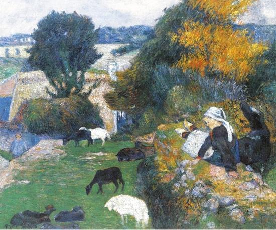 The Breton Shepherdess by Paul Gauguin