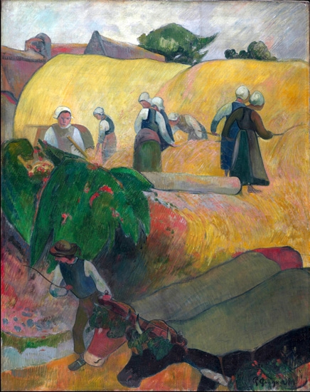 The Haystacks by Paul Gauguin