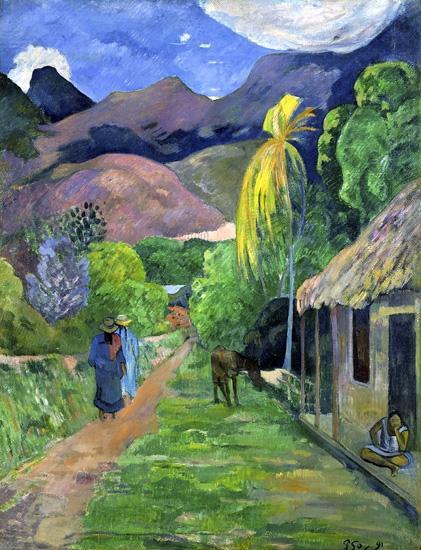 Street in Tahiti by Paul Gauguin