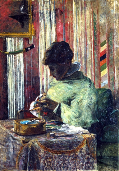 The Embroiderer by Paul Gauguin
