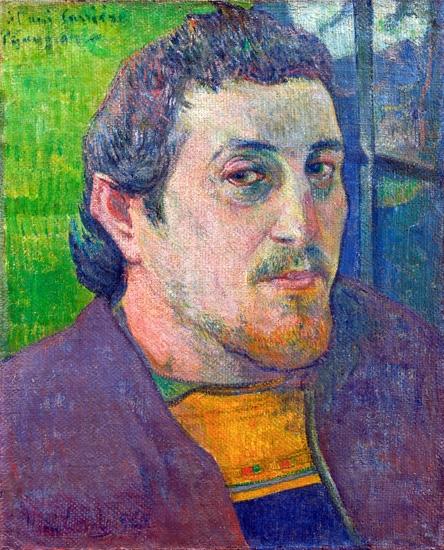 Self Portrait Dedicated to CarrièRe by Paul Gauguin