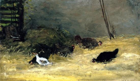 In the Henhouse by Paul Gauguin