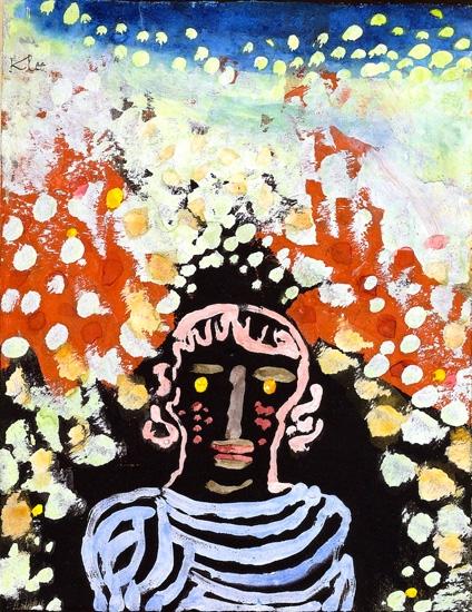 Bildnis In Der Laube by Paul Klee