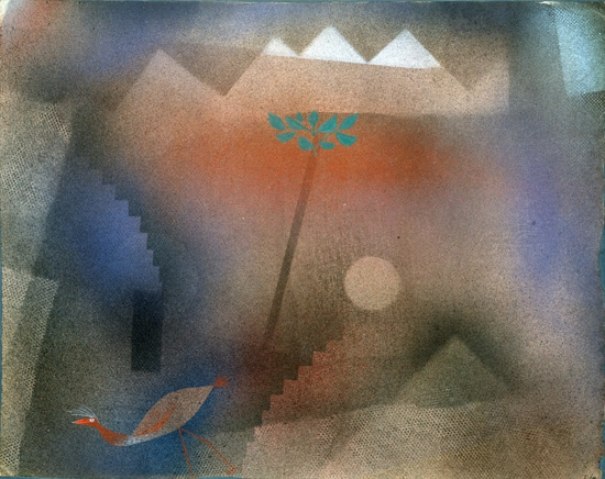 Bird Wandering Off by Paul Klee