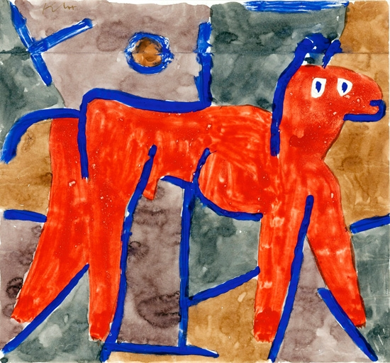 Wild Animal At Bay by Paul Klee