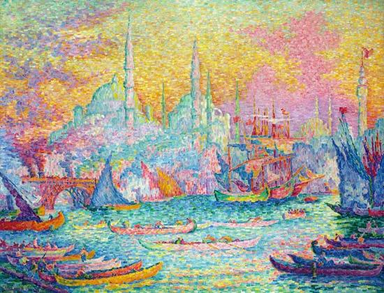 La Corne D'or, Constantinople by Paul Signac
