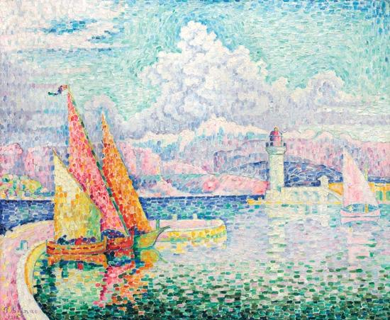 Le Musior (Port D'antibes) by Paul Signac