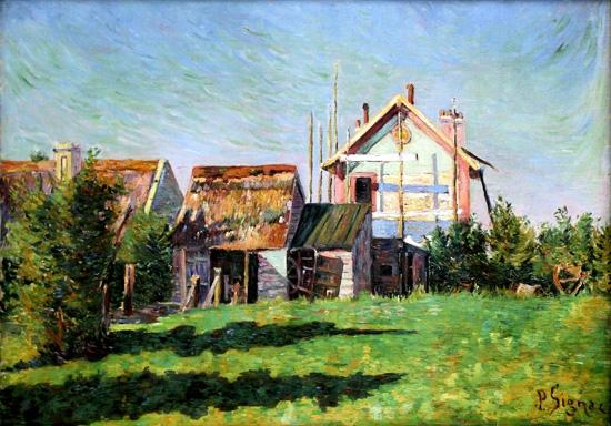 La-Valleuse,-Port-En-Bessin-1884 by ポール·シニャック