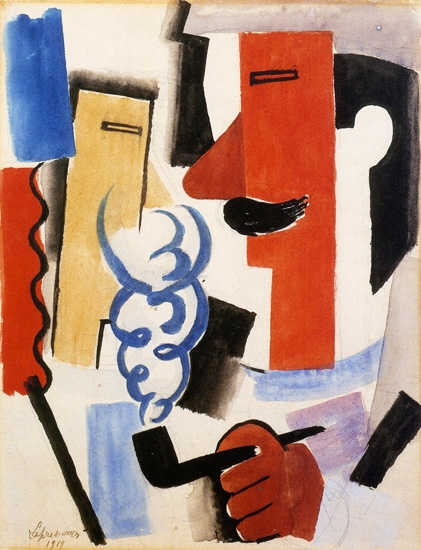 Soldier Smoking by Roger Fresnaye