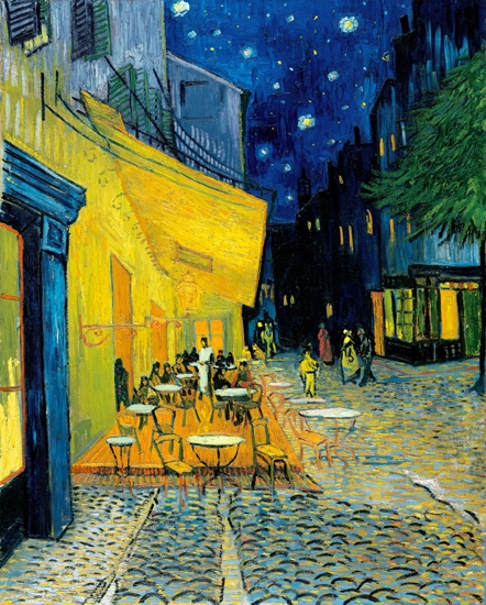 Terrace of a café at night (Place du Forum) by Vincent Van Gogh