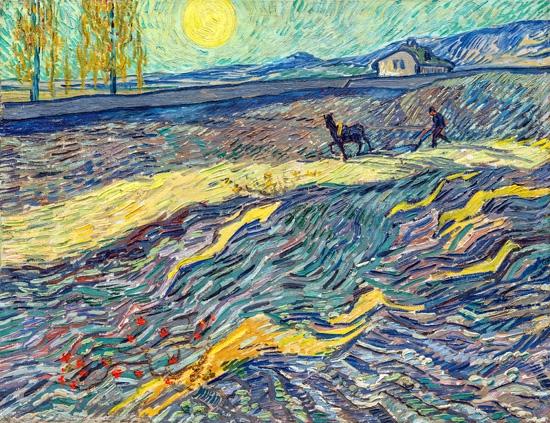 耕す人のいる農場 by フィンセント·ファン·ゴッホ