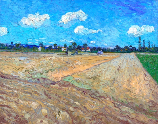 Ploughed Fields (The Furrows) by Vincent Van Gogh