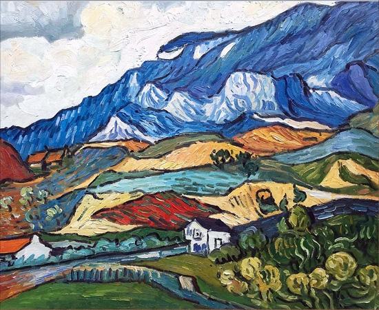 Les Alpilles, Mountain Landscape Near Saint Remy by Vincent Van Gogh
