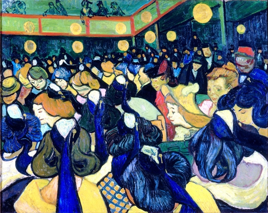 The Dance Hall In Arles 1888 by Vincent Van Gogh
