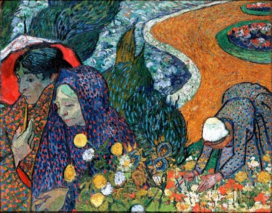 Memory Of The Garden At Etten (Ladies Of Arles) by Vincent Van Gogh