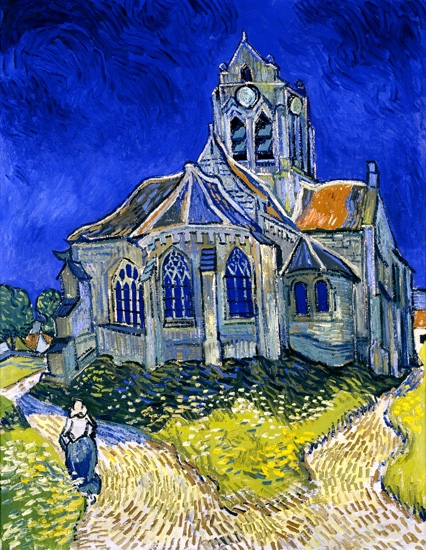 The Church In Auvers-Sur-Oise, View From The Chevet 1890 by Vincent Van Gogh