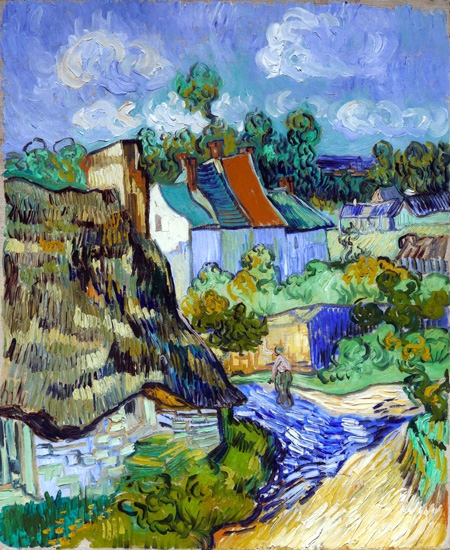 Houses At Auvers 1890 by Vincent Van Gogh