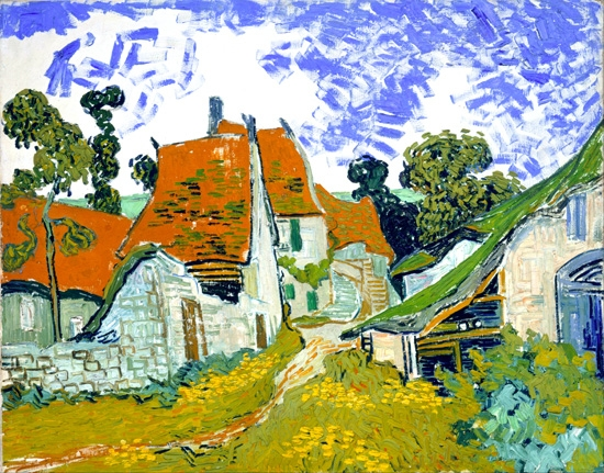 Street In Auvers-Sur-Oise 1890 by Vincent Van Gogh