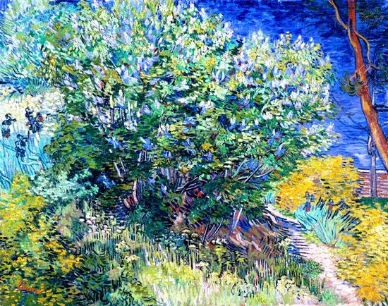 The Lilac Bush by Vincent Van Gogh