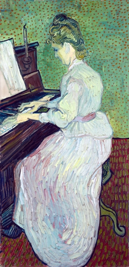 Marguerite Gachet Au Piano by Vincent Van Gogh