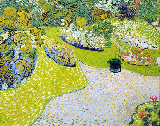 Garden In Auvers 1890 by Vincent Van Gogh