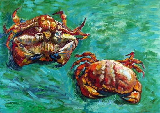 Two Crabs by フィンセント·ファン·ゴッホ