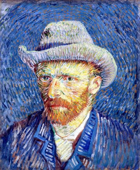 Self-Portrait With Grey Felt Hat 1887 by Vincent Van Gogh