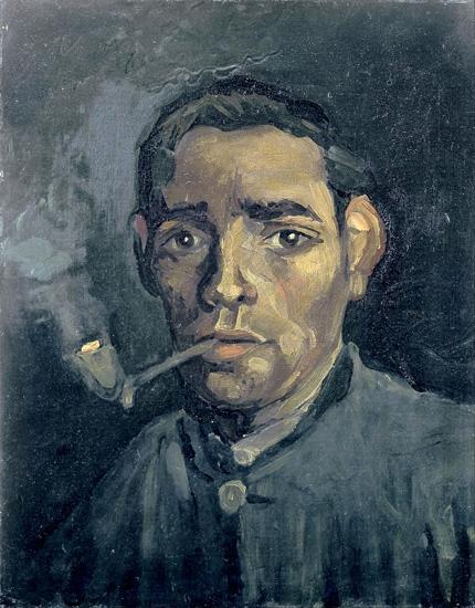 Head Of A Man 1885 by Vincent Van Gogh