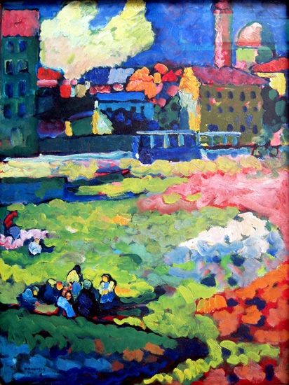 Munich-Schwabing With The Church Of St. Ursula by Wassily Kandinsky