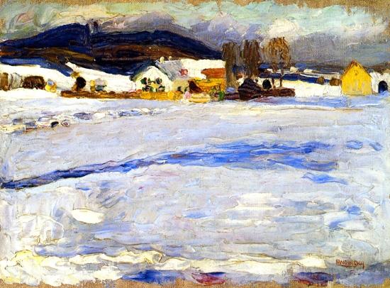 Bei Starnberg - Winter by Wassily Kandinsky