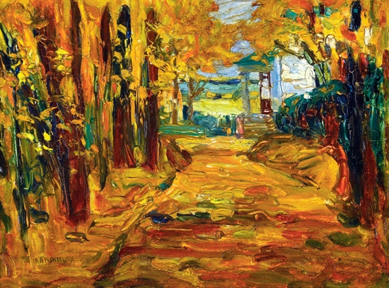 Park Von St. Cloud - Herbst I by Wassily Kandinsky