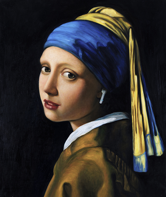 Girl with a pearl earing by Johannes Vermeer